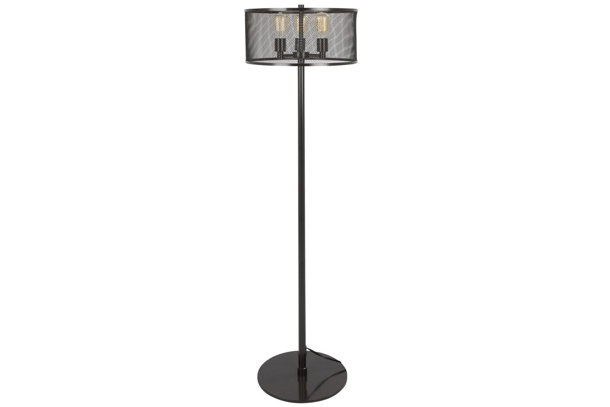 Indy Mesh Industrial Floor Lamp With Antique Metal By LumiSource From  Gardner White Furniture