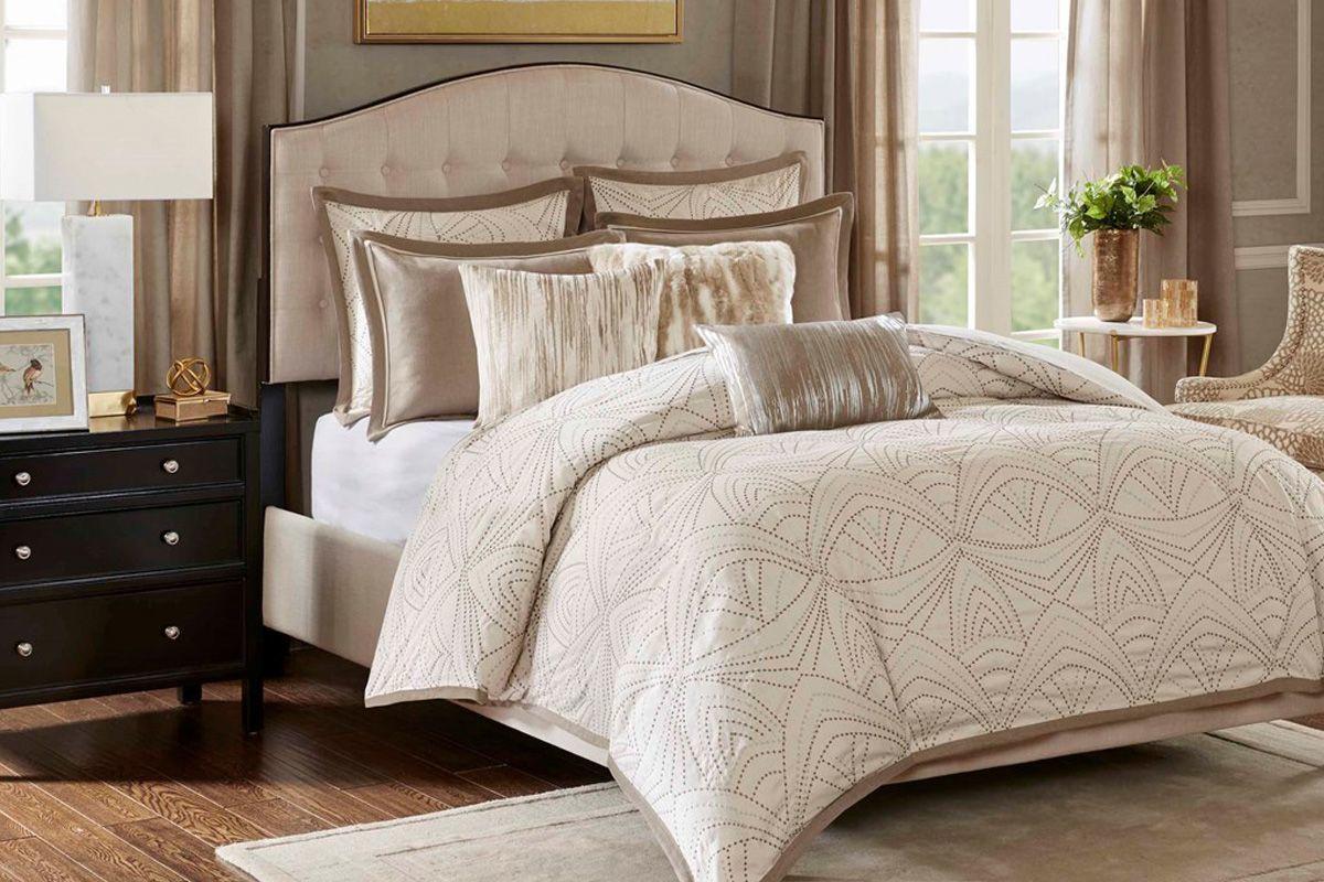 Glamorous 8-Piece Queen Comforter Set from Gardner-White Furniture