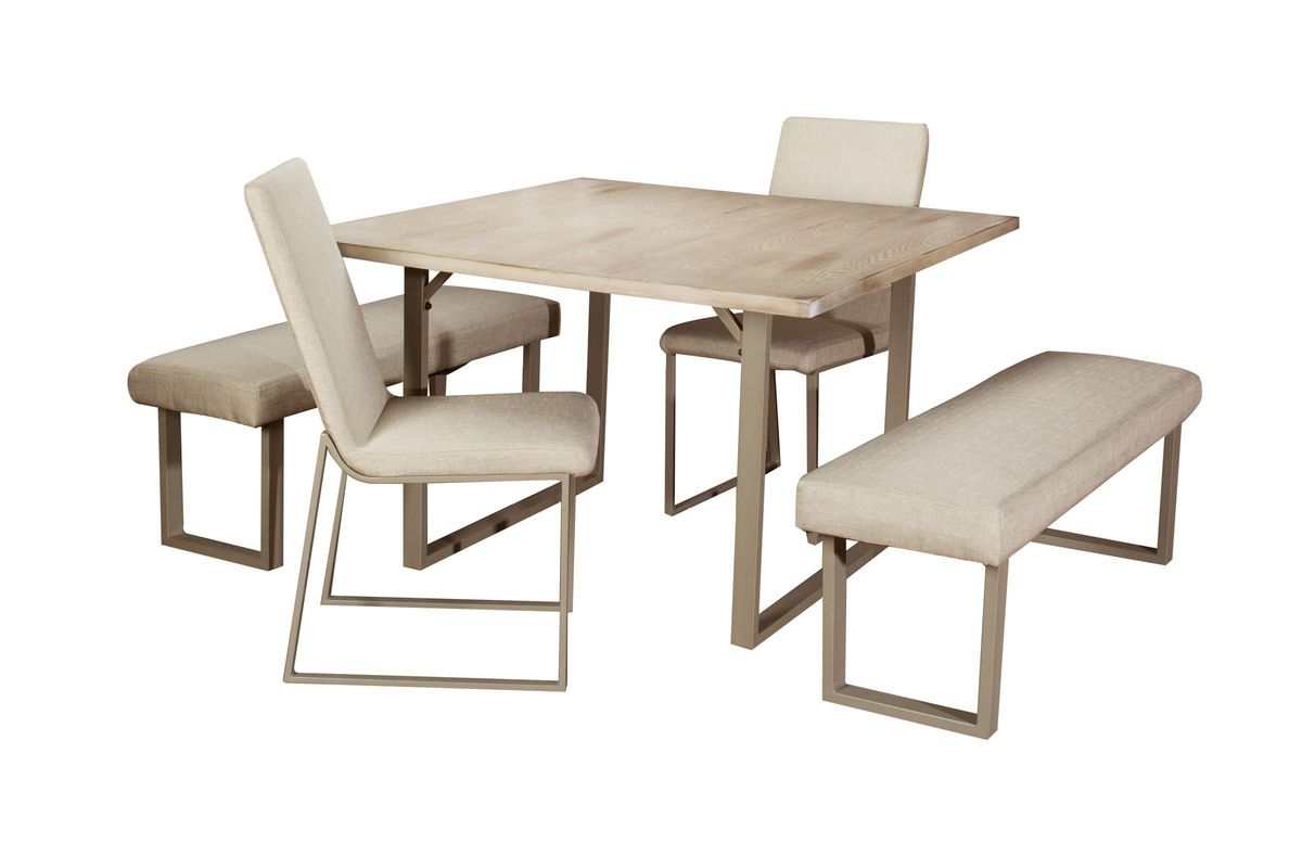 Cool Eileen Dining Table 2 Side Chairs 2 Benches Gmtry Best Dining Table And Chair Ideas Images Gmtryco