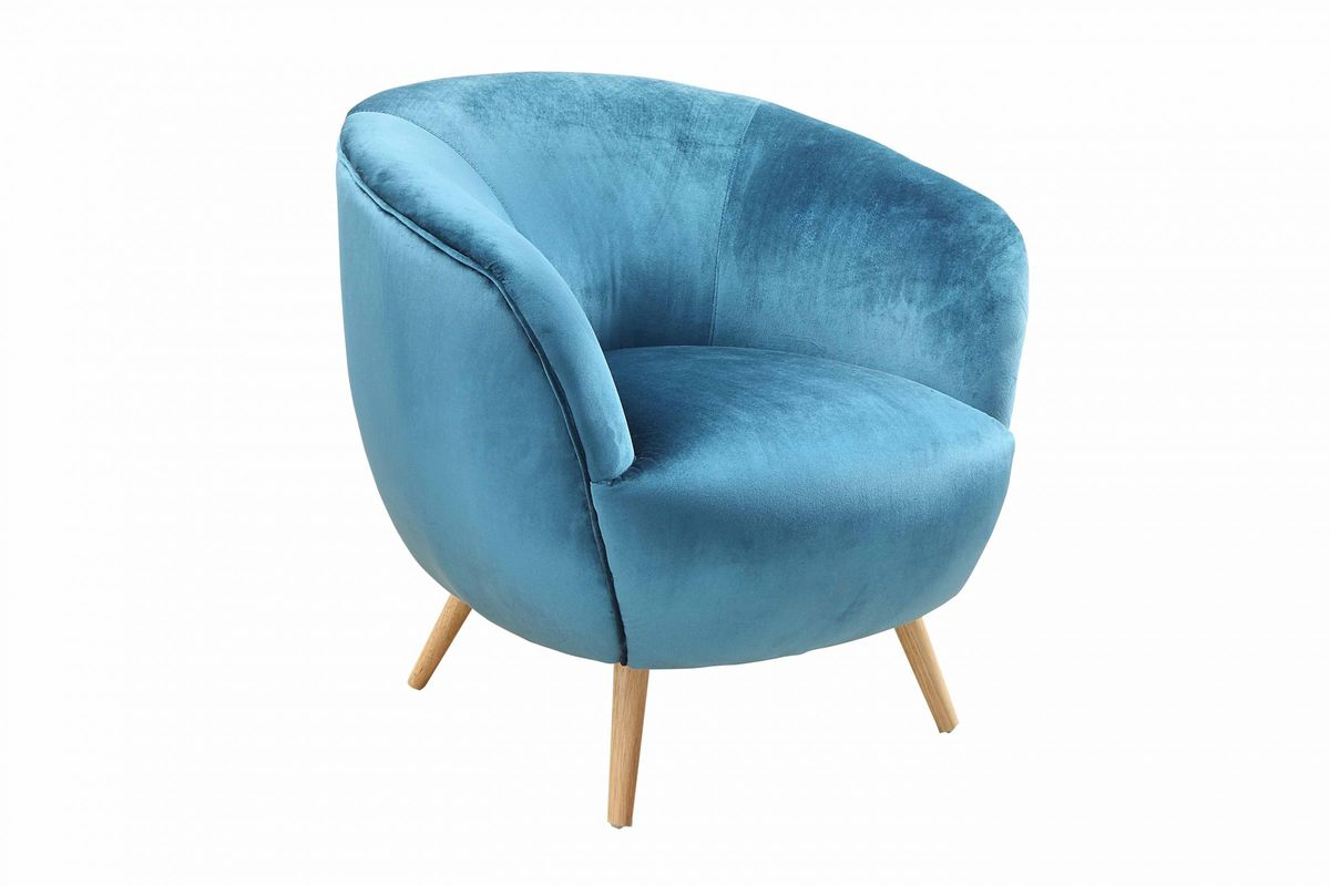 Fantastic Aisling Accent Chair In Teal Velvet By Acme Ncnpc Chair Design For Home Ncnpcorg