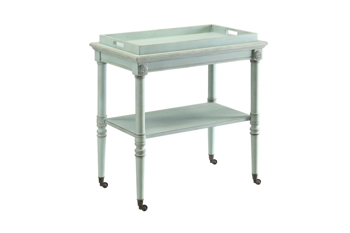 Incredible Frisco Tray Table In Antique Green By Acme Home Interior And Landscaping Fragforummapetitesourisinfo