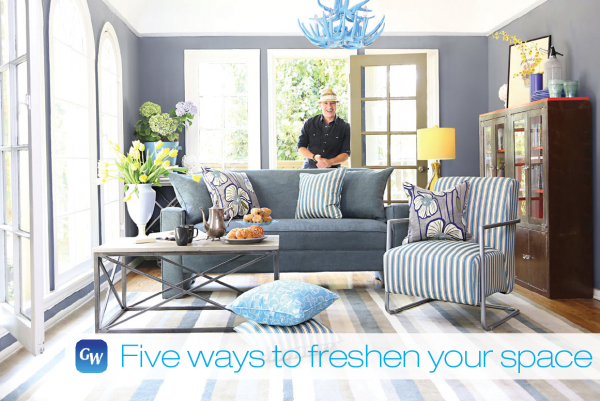 Angelo Surmelis of Angelo:HOME shows us how easy it is to achieve a summer makeover.