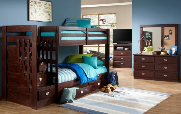 University_Stair_Caise_bunk_bed_w-dresser