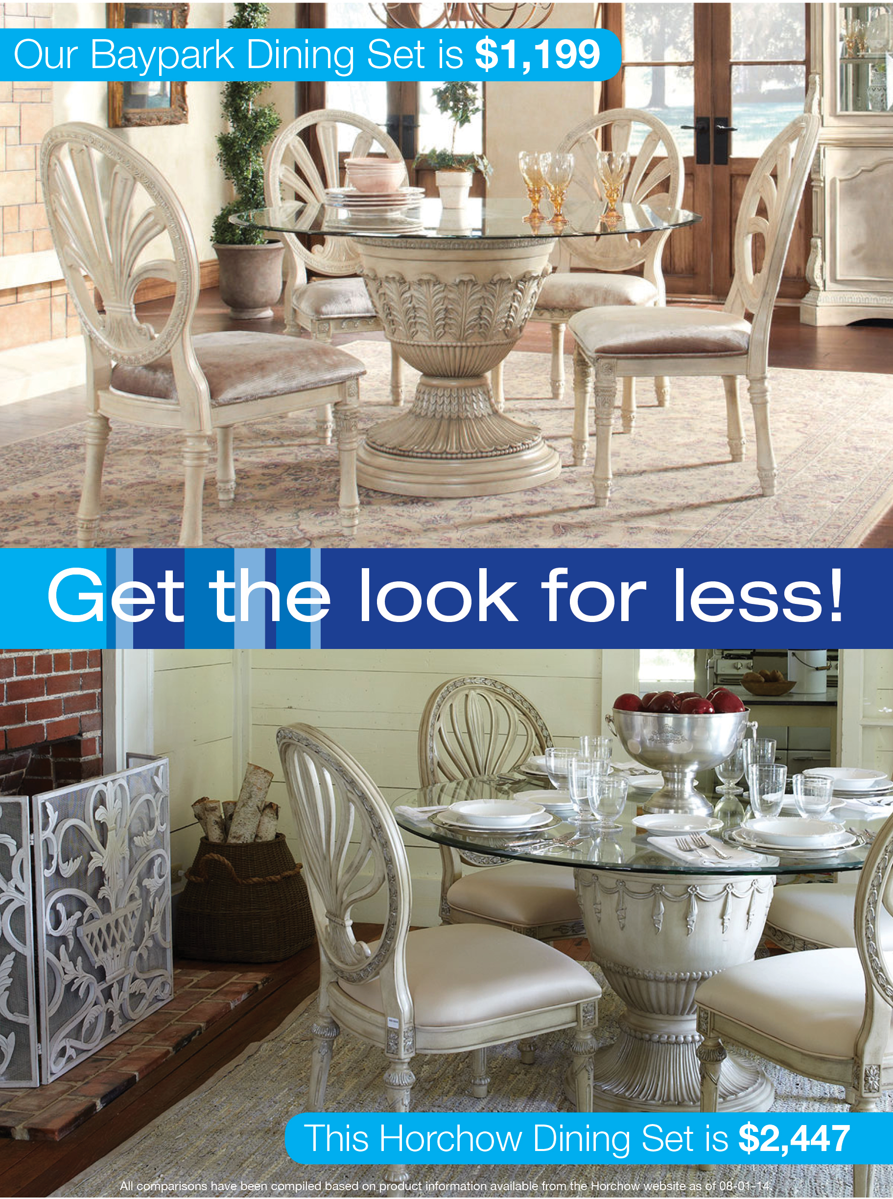 Look For Less Elegant Pedestal Dining Set