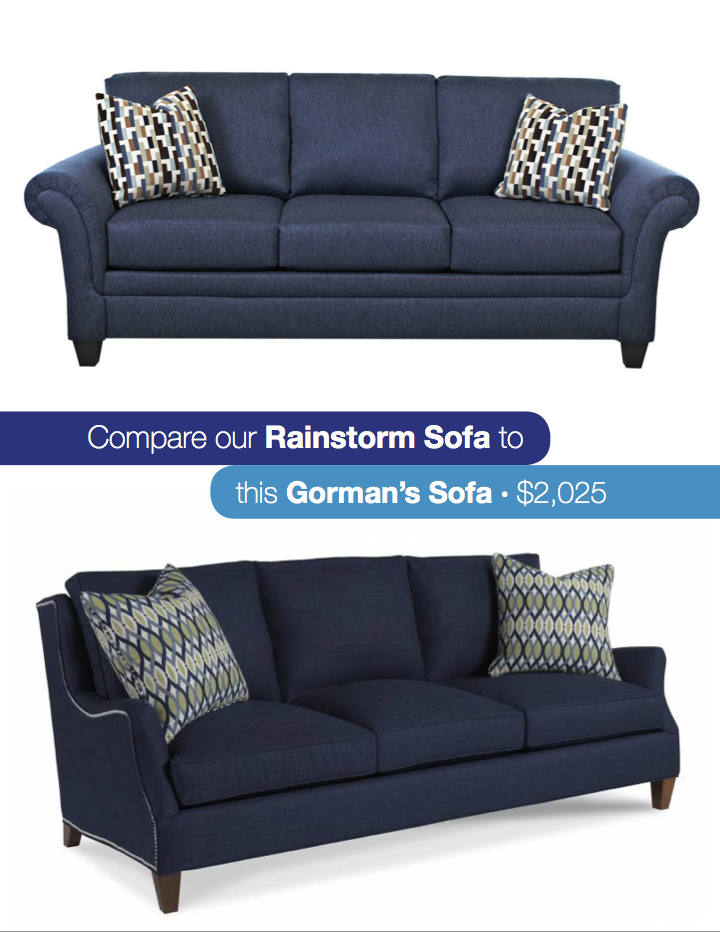 Look For Less Navy Blue Sofa Gardner White Blog