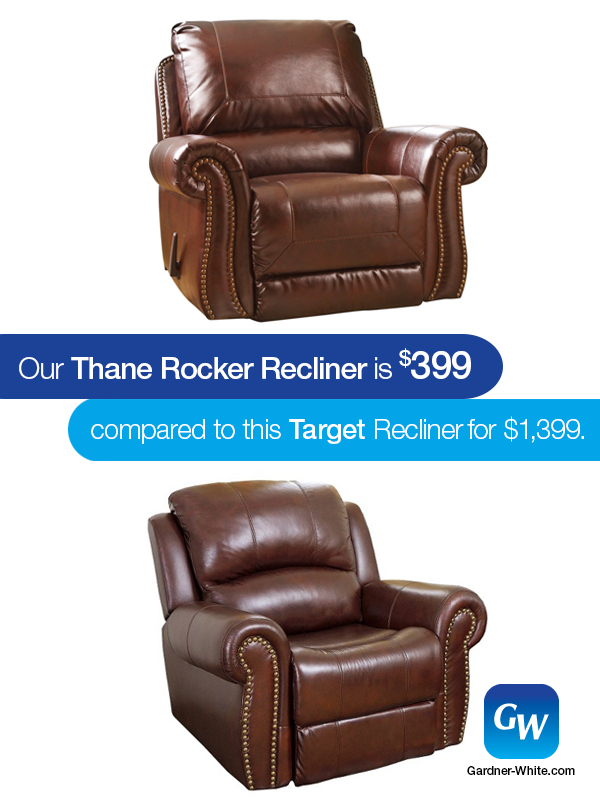 Thatu0027s why at Gardner-White we decided to do the shopping for you. If youu0027re shopping for a leather recliner but ...  sc 1 st  Gardner-White & Looks For Less: Thane Rocker Recliner | Gardner-White Blog islam-shia.org