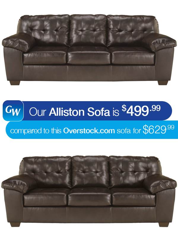 looks for less save 130 with our alliston sofa gardner white blog. Black Bedroom Furniture Sets. Home Design Ideas