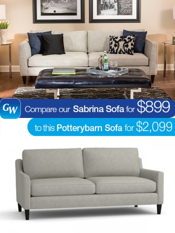 looks for less save 1 200 with our sabrina sofa gardner white blog. Black Bedroom Furniture Sets. Home Design Ideas