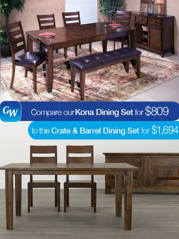 Peachy Looks For Less Save 885 On Our Kona Dining Table With 4 Gmtry Best Dining Table And Chair Ideas Images Gmtryco
