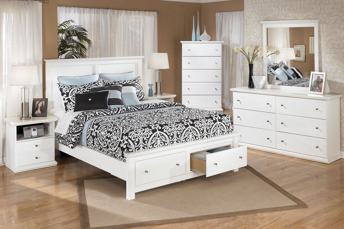 Ashley white bedroom furniture - Bostwick By Ashley From Gardner White Furniture