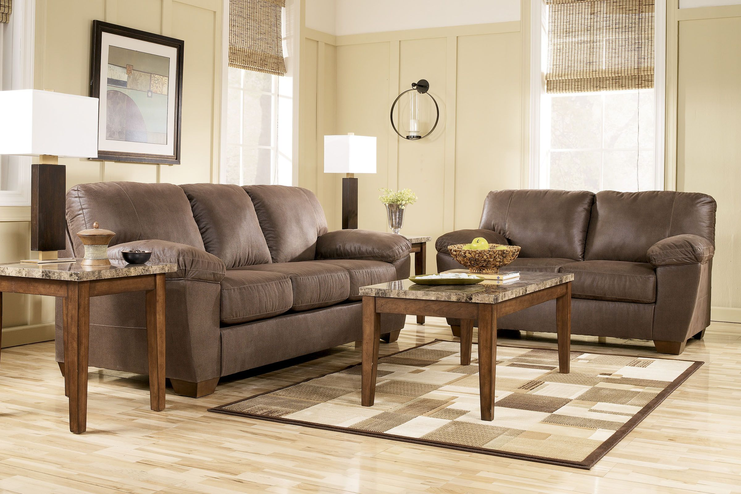 sofa   loveseat   3 tables amazon 5 piece big picture package with 55   sharp 4k ultra hd tv now  2199 99  1759 99   we pay your tax living room furniture with extras  rh   gardner white