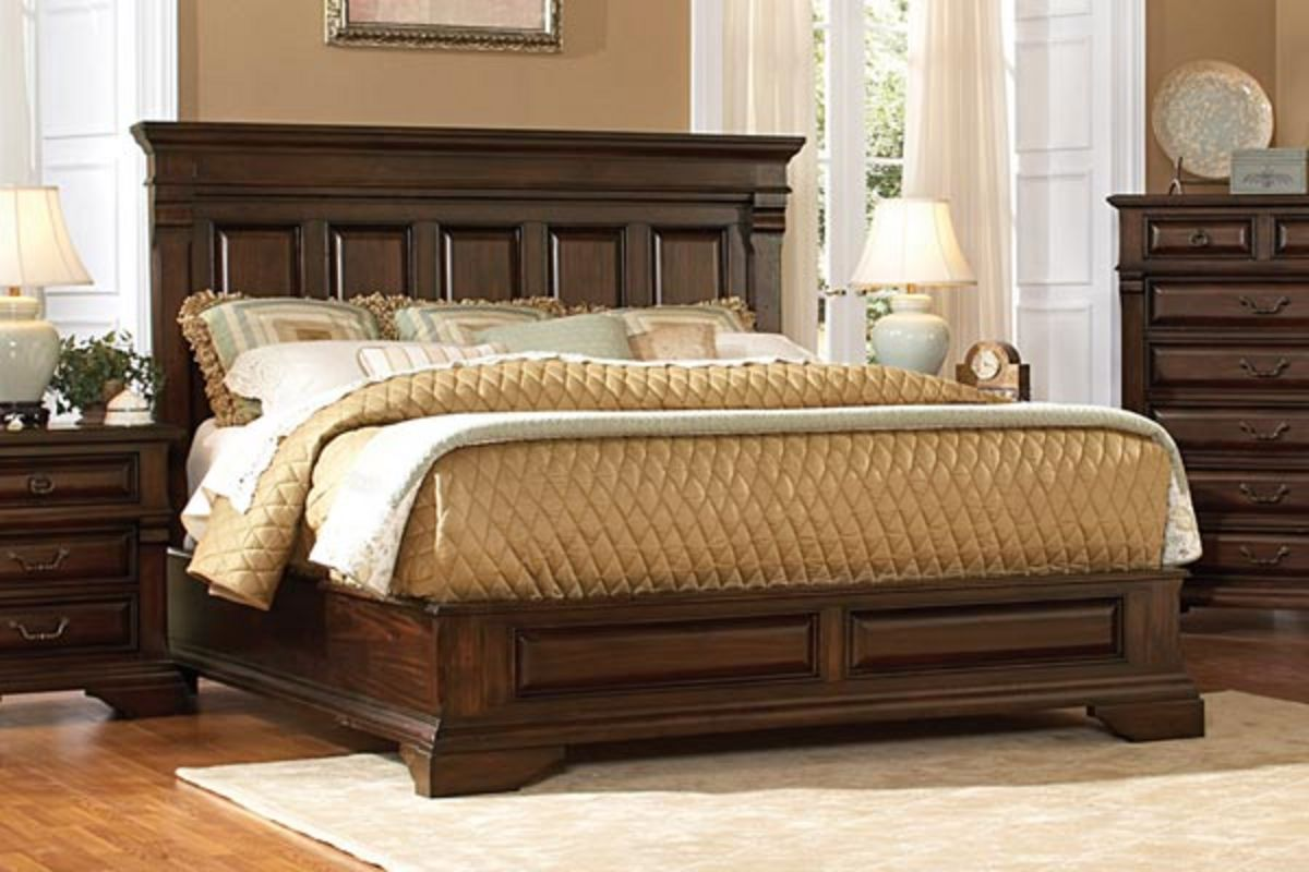 Portsmith queen bed dresser mirror nighstand at for Mirror queen bed
