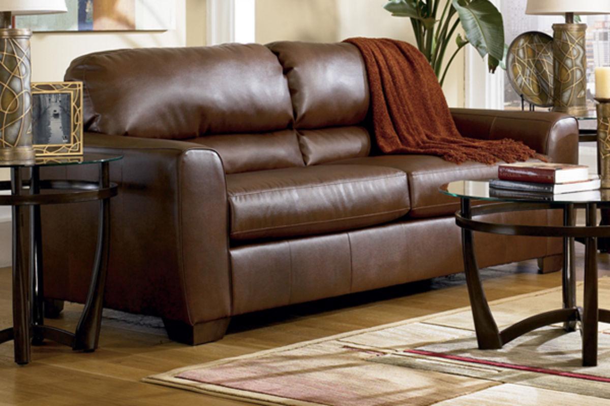 Bark Durablend Leather Sleeper Sofa At Gardner White
