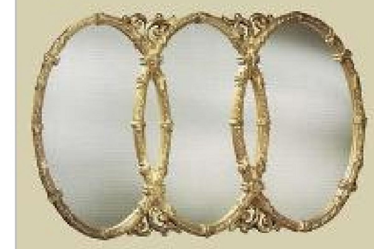 Db. Beautiful Triple Oval Mirror from Gardner-White Furniture