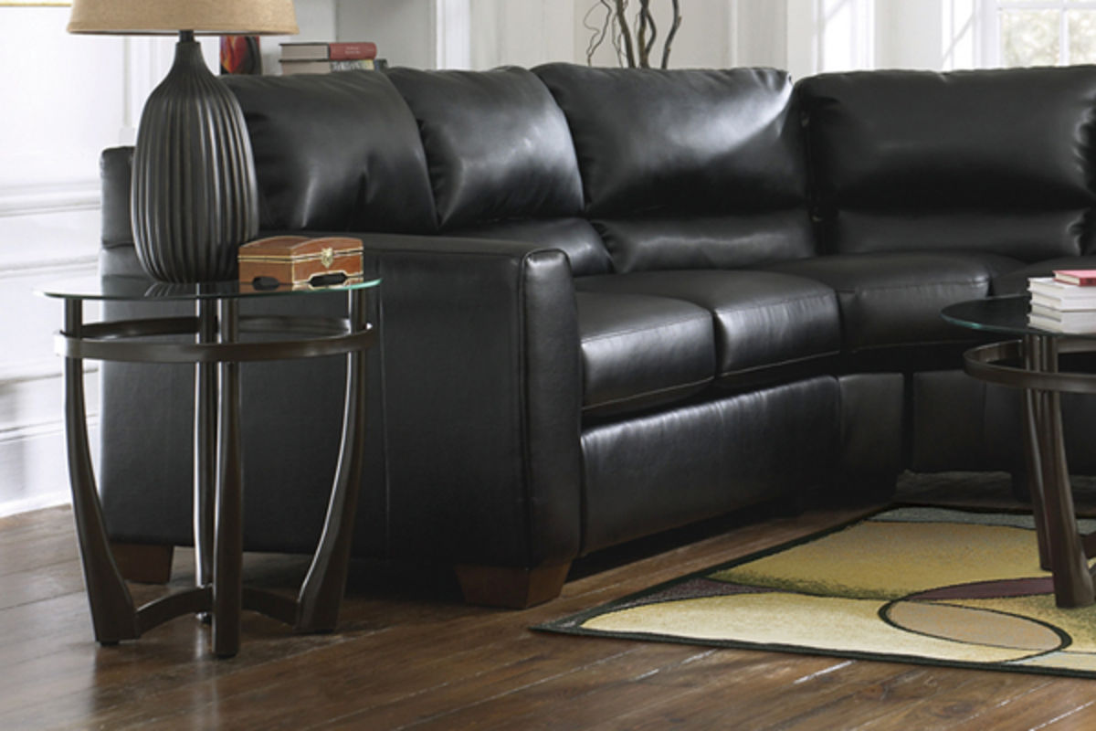 Onyx DurablendTM Leather Sectional
