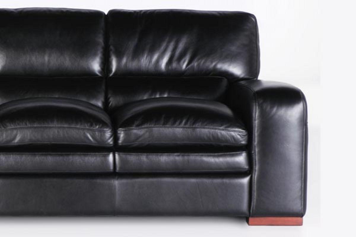 Arabella Black Leather Sofa Loveseat Chair Amp Ottoman