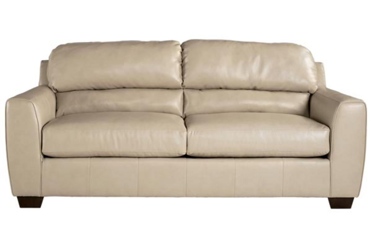 Rimini Taupe Durablend Leather Sofa At Gardner White