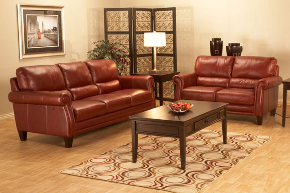 Leather Furniture Traveler Collection: Belmont All Leather Sofa & Loveseat At Gardner-White
