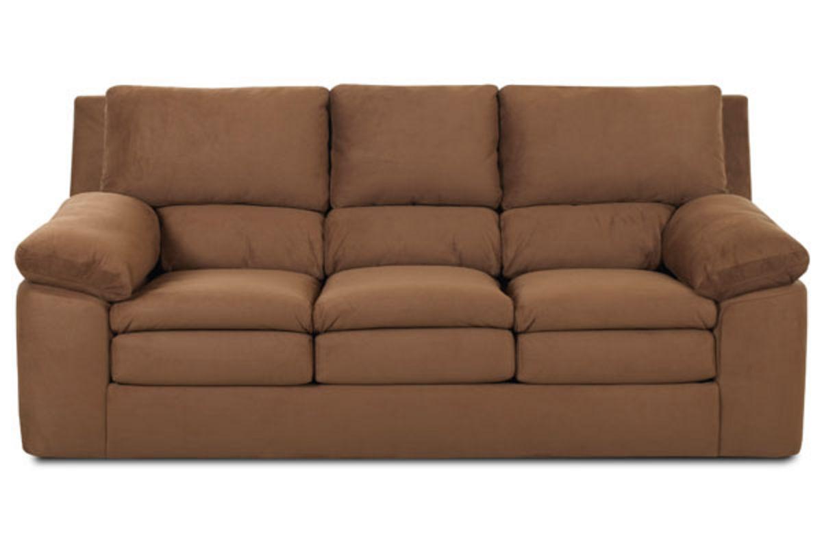 white microfiber sofa