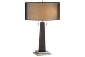 Wood Double Chain Table Lamp