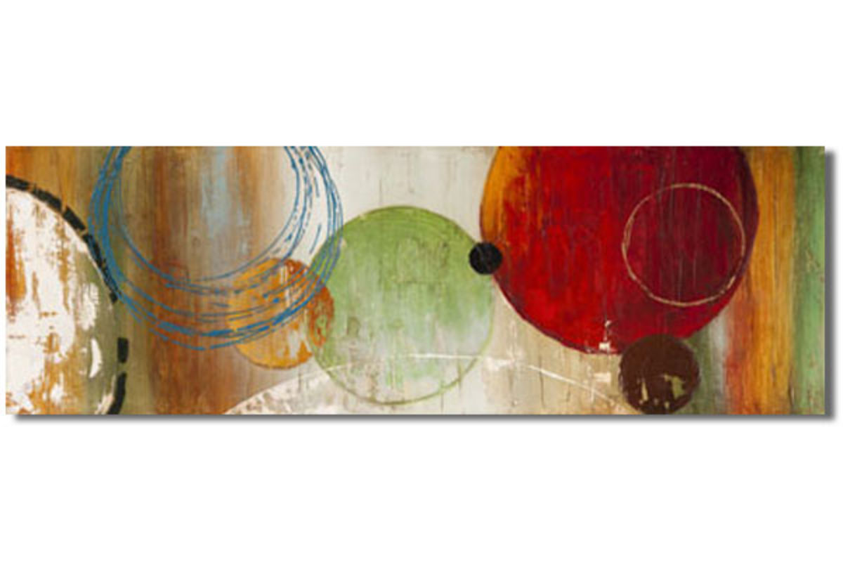Abstract Circles Oil Painting At Gardner White