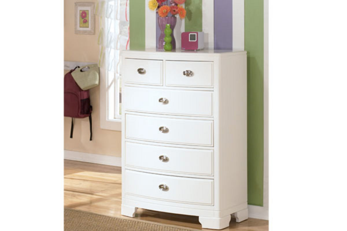 White Nightstand And Dresser: Alyn Twin Storage Bed, Dresser With Mirror, Chest