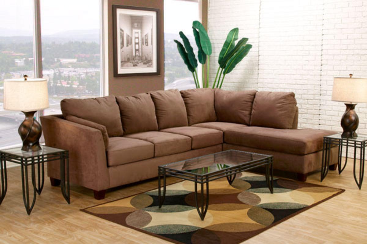 Glacier Microfiber Sectional Glacier Collection In Living Room At Gardner White Furniture