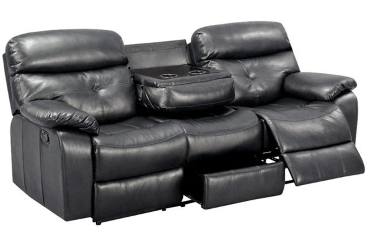 Elegance Gliding Reclining Leather Sofa At Gardner White