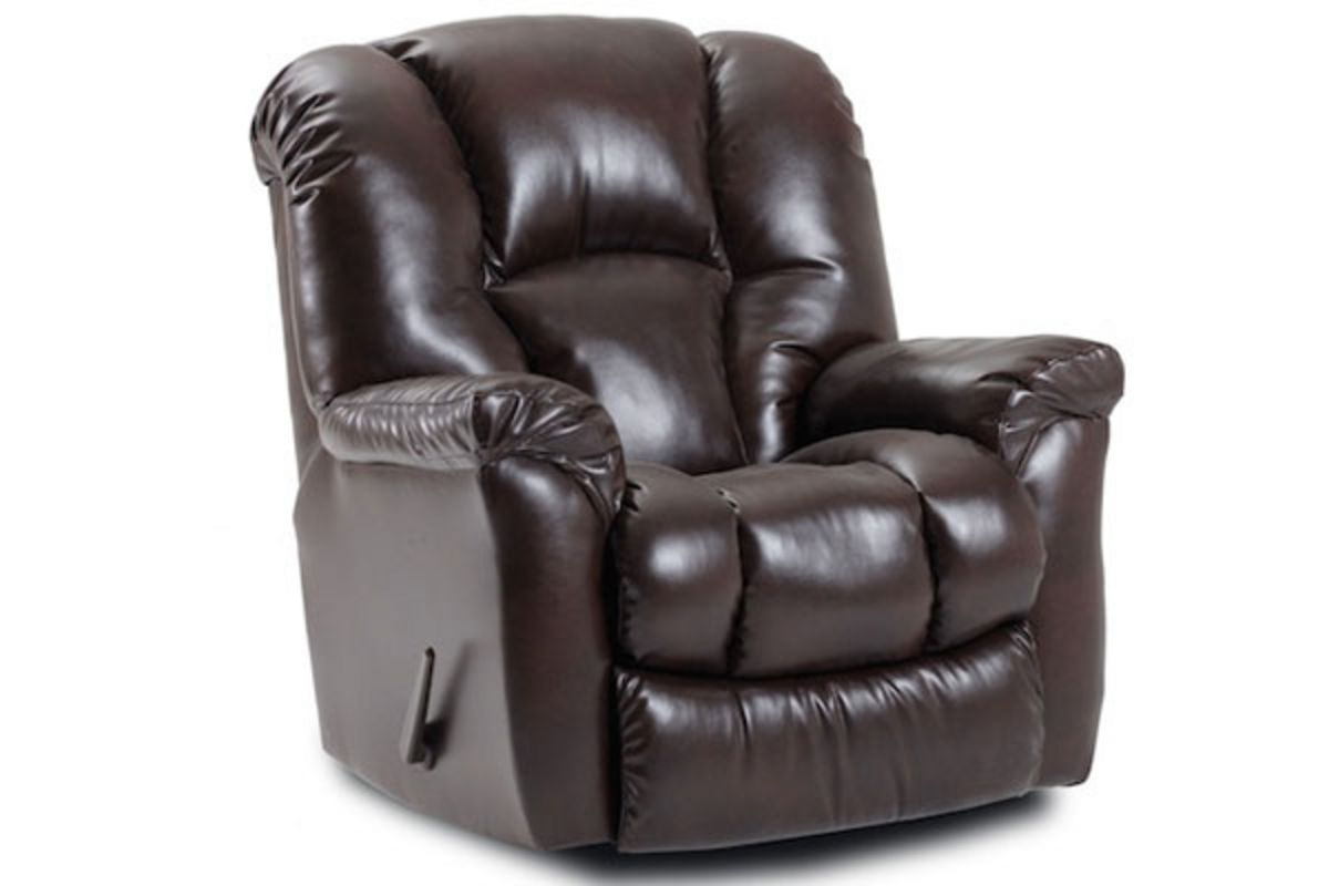Leather chaise rocker recliner for Chaise x rocker