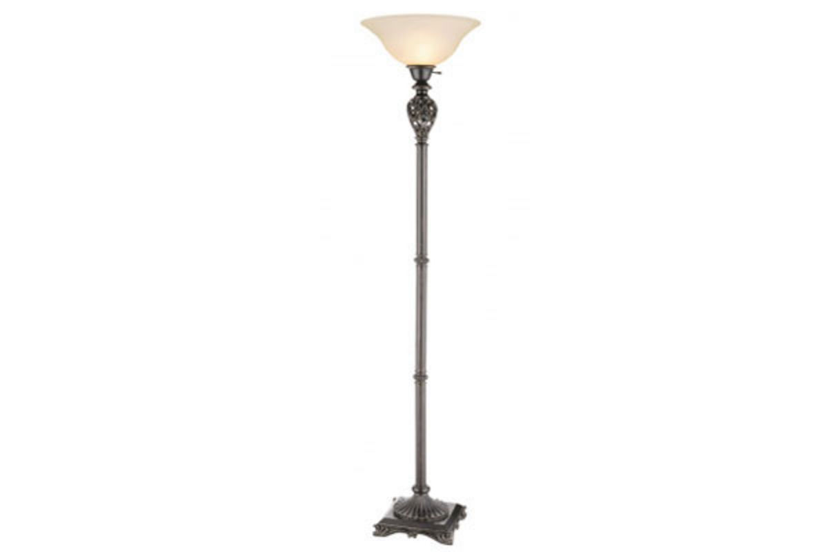 Open Heart Scroll Torchiere Floor Lamp from Gardner-White Furniture