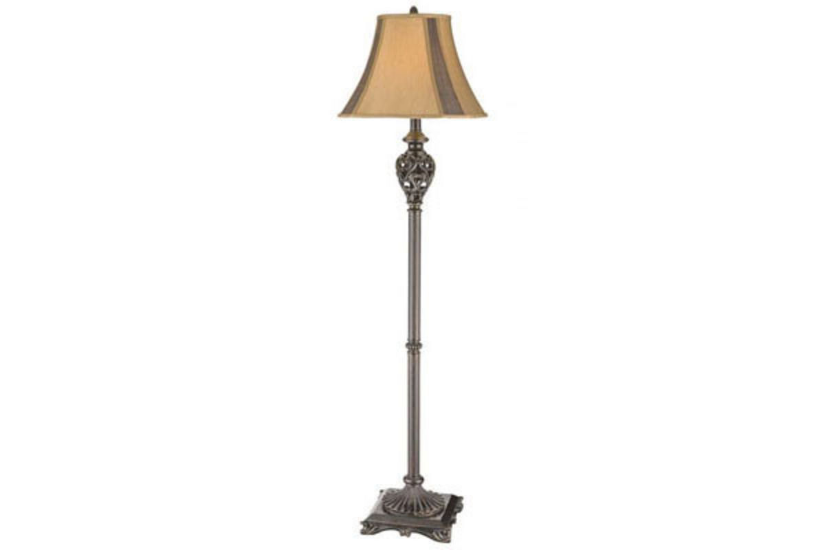 Open Heart Scroll Floor Lamp from Gardner-White Furniture