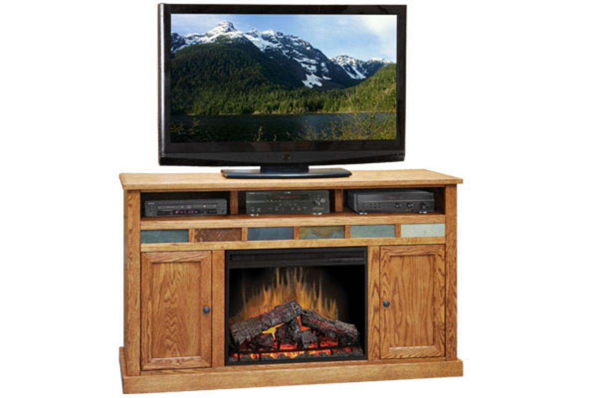 62 oak entertainment unit fireplace at gardner white for Furniture 60 months no interest