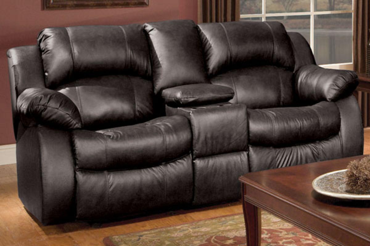 Keaton Reclining Leather Sofa Loveseat Amp 32 Quot Tv At