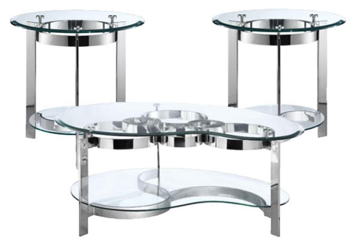Curvy Chrome Amp Glass End Table At Gardner White