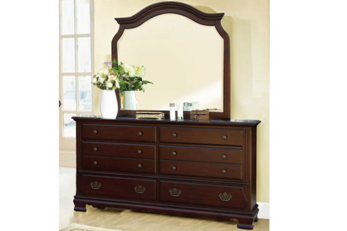 Riverdale King Bed, Dresser With Mirror, Chest, Nightstand