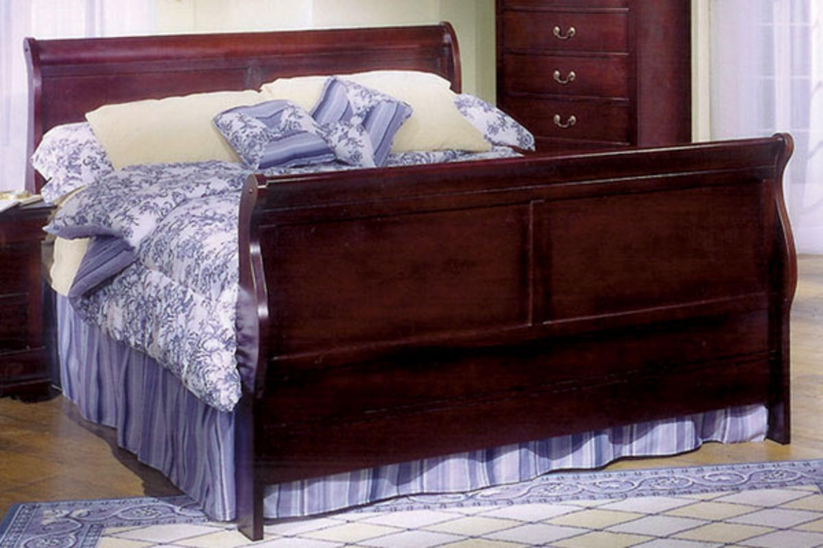 Louis queen bed dresser with mirror 32 tv at gardner white for Mirror queen bed