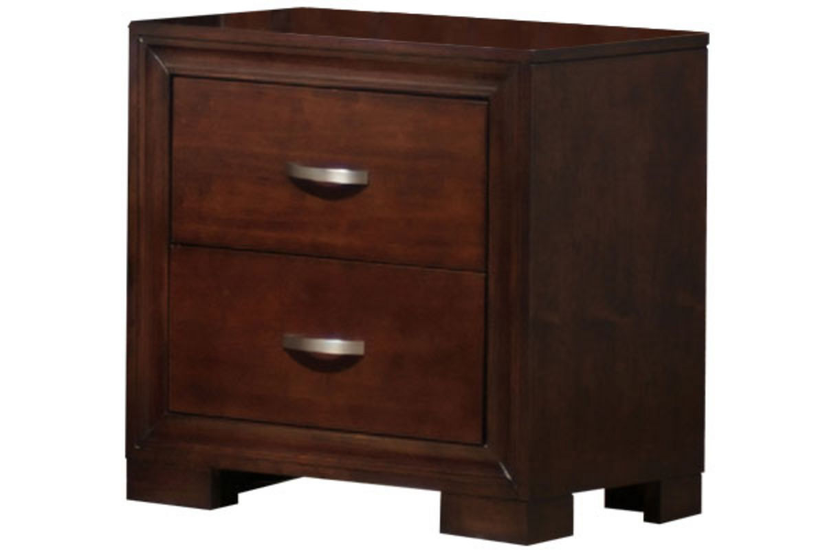 nightstand raven collection in bedroom at gardner white furniture
