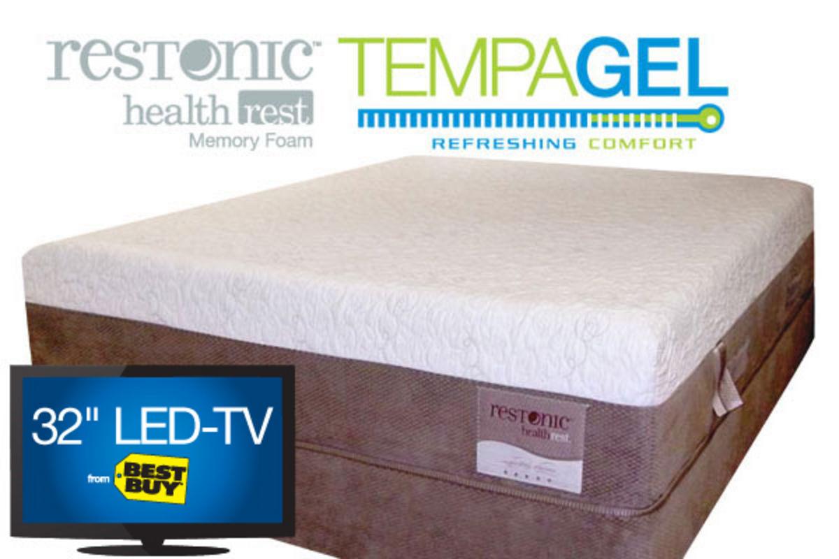 Tempagel indulge by restonic king mattress at gardner white for Gardner white credit