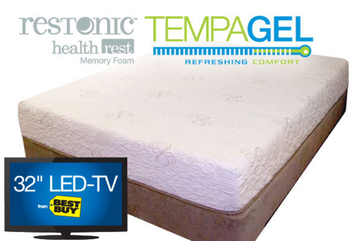 Tempagel relax by restonic full mattress at gardner white for Gardner white credit