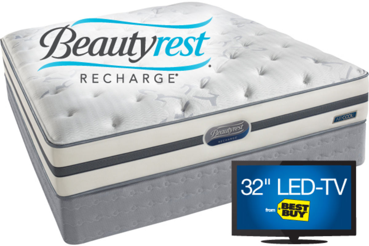 Simmons Beautyrest Queen Mattress Set Edgewater Plush