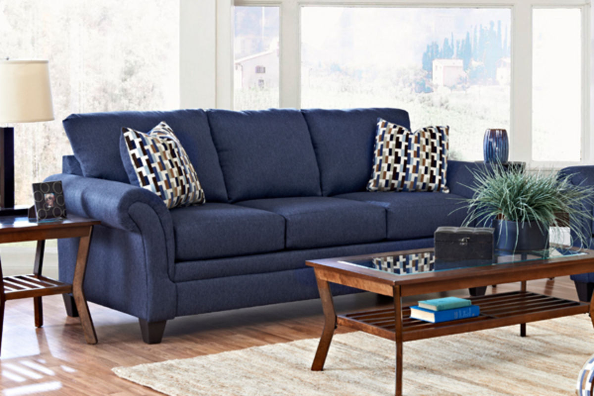 navy blue living room decor modern house