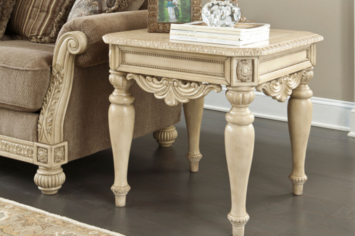 ortanique end table in living room at gardner white furniture
