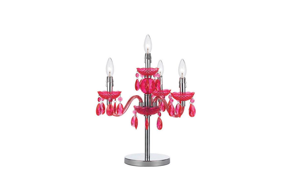 fulton pink chandelier table lamp. Black Bedroom Furniture Sets. Home Design Ideas