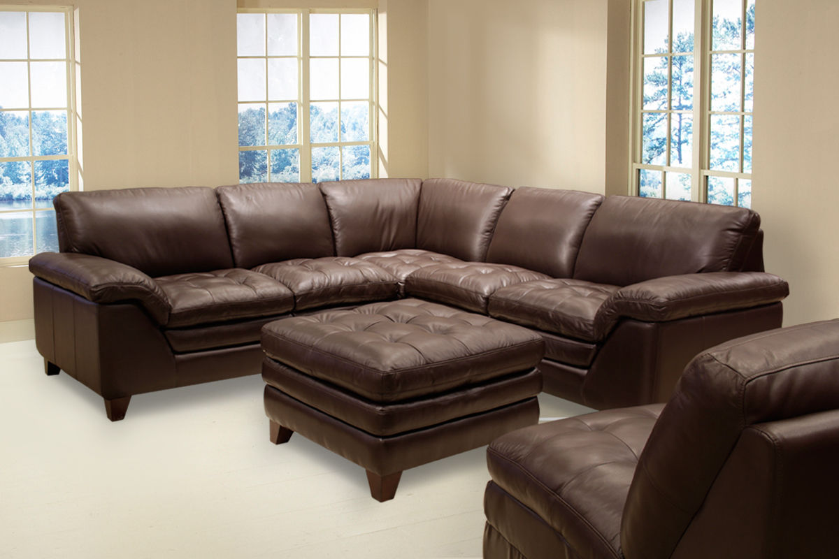 Amaretto 2 Piece Leather Sectional Armless Chair
