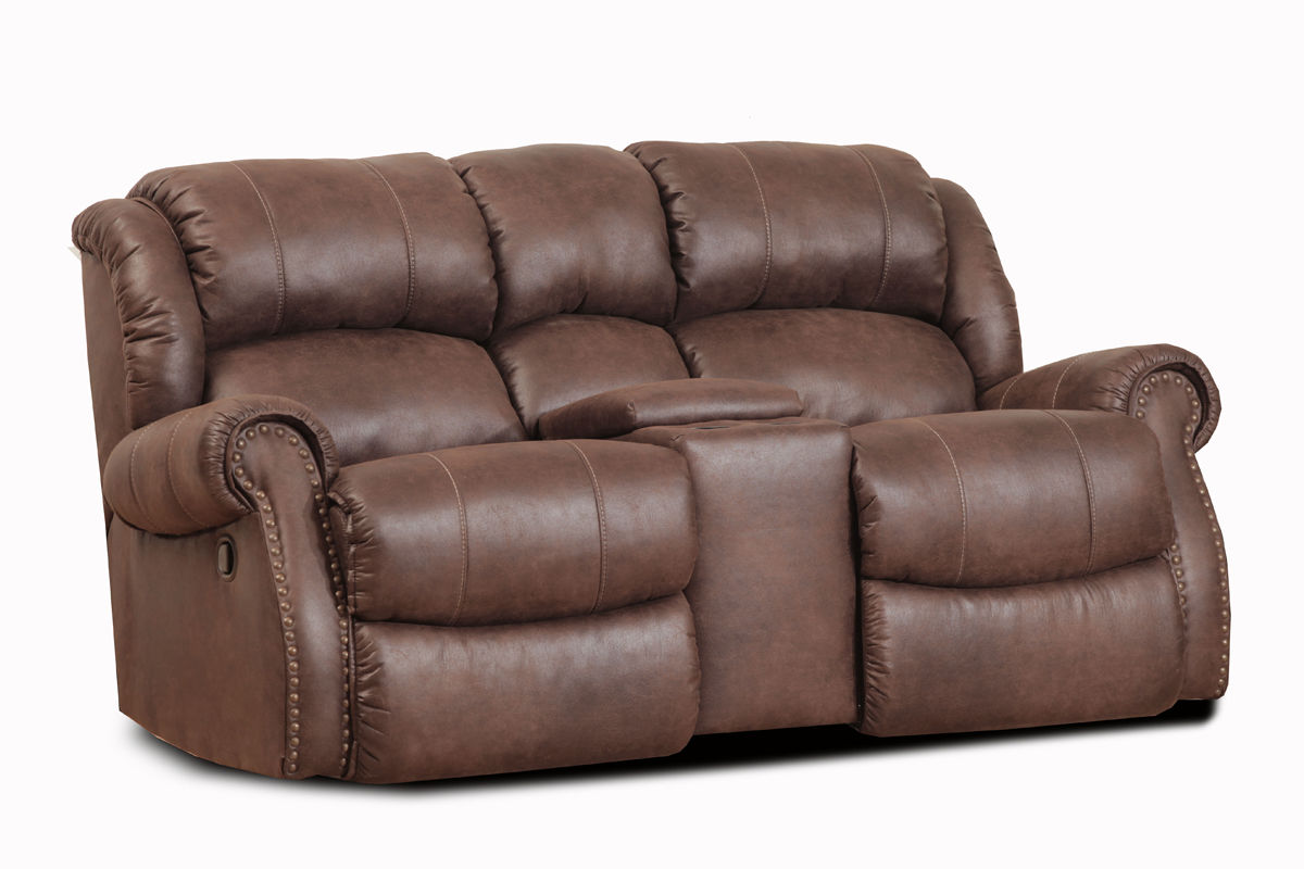 Wyoming Espresso Rocker Reclining Loveseat With Console