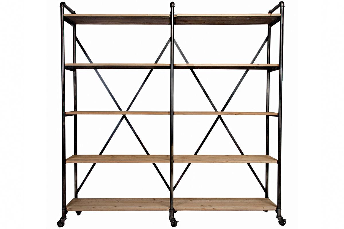 ludlow metal and wood shelf. Black Bedroom Furniture Sets. Home Design Ideas