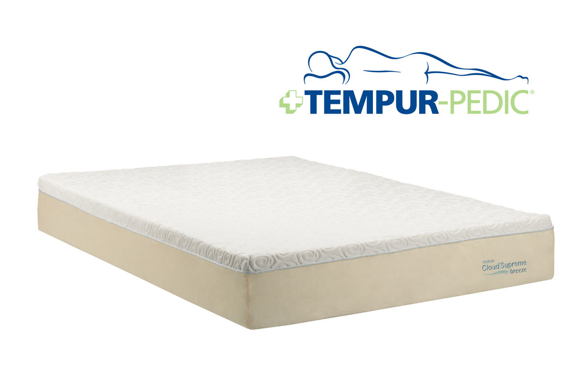 Tempur Cloud 174 Supreme Breeze Queen Mattress At Gardner White
