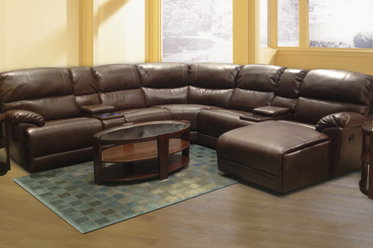 Odell Leather Sectional Odell Collection In Living Room At Gardner White Furniture