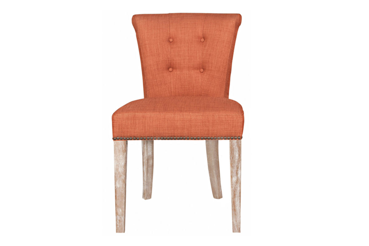 Orange Dining Room Chairs Burnt Orange Leather Dining Chair Set Of 2 Modern Dining Room