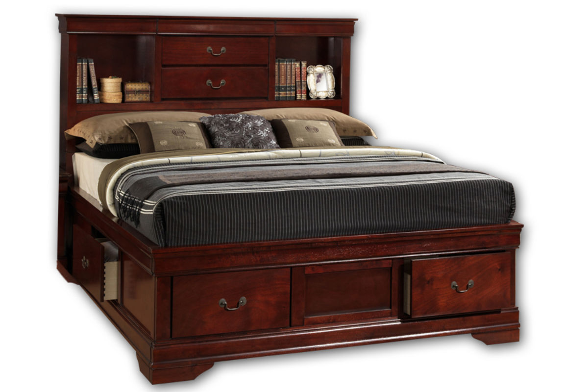 Louis King Storage Bed Louis Collection In Bedroom At